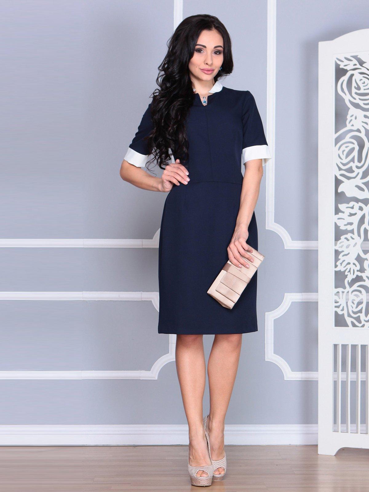 Платье сине-молочного цвета   4078938