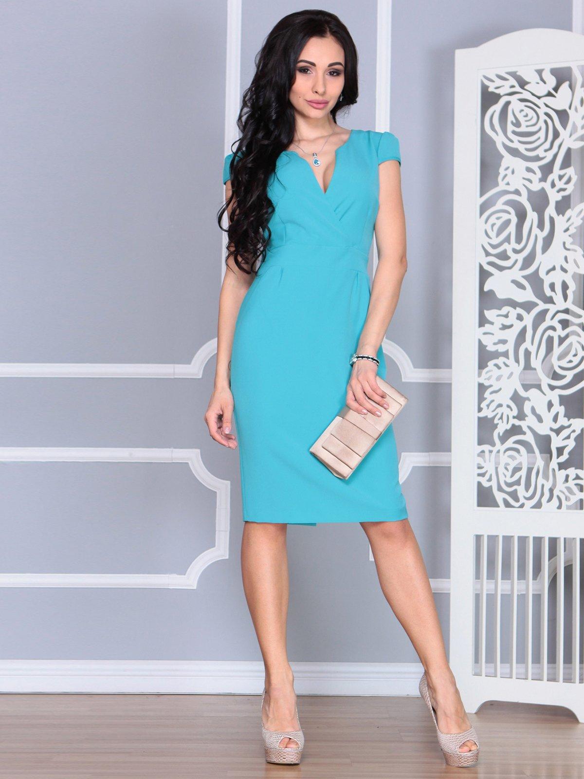 Платье цвета зеленой бирюзы | 4078946