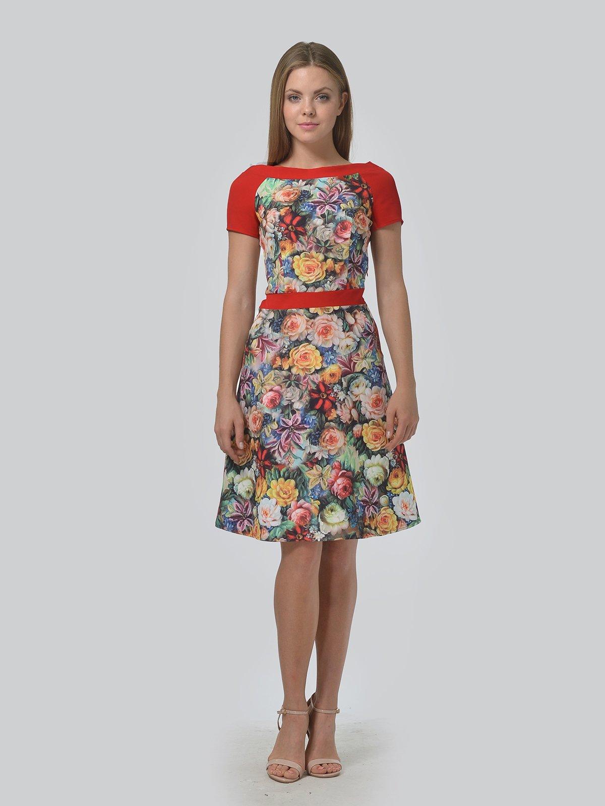 Платье в цветочный принт | 4090693