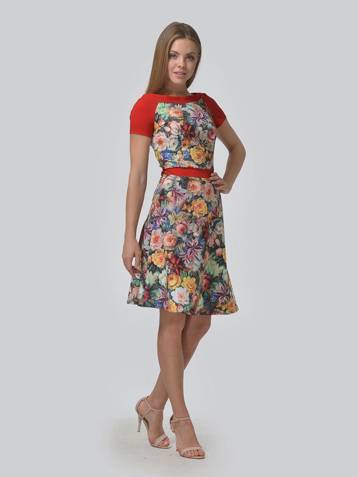 Платье в цветочный принт | 4090693 | фото 2