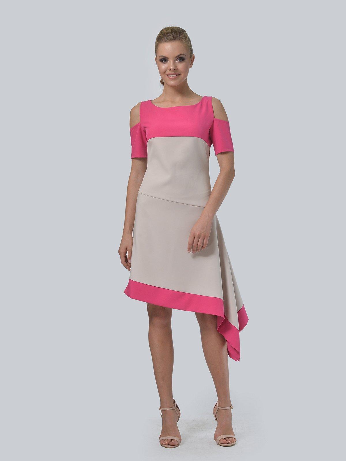 Платье двухцветное   4090706   фото 2
