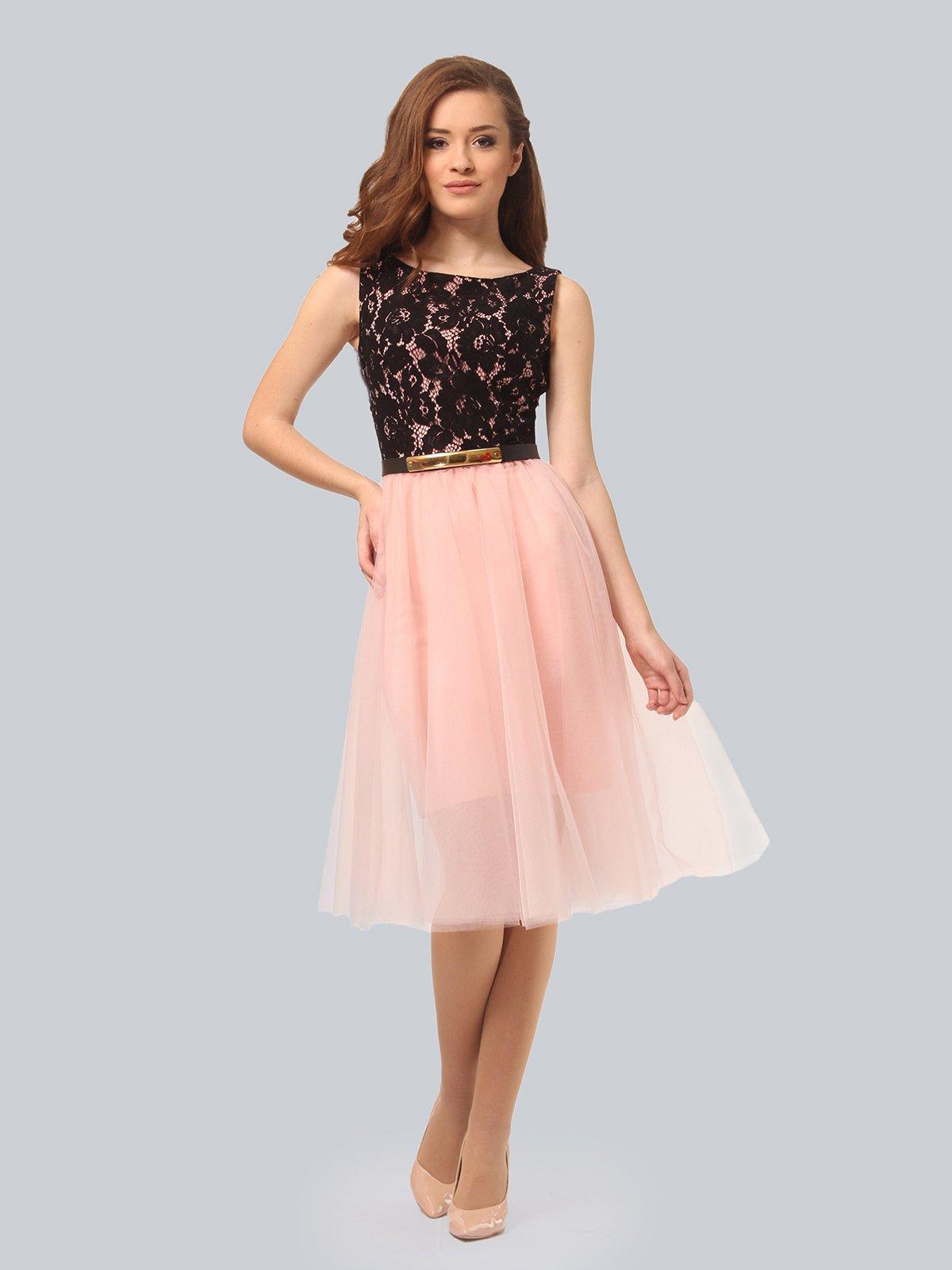 Платье цвета пудры | 4090674 | фото 3