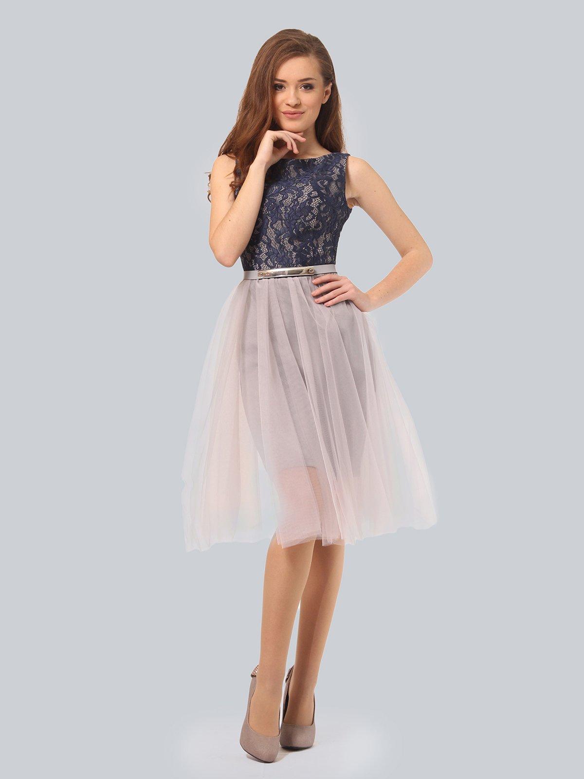 Платье светло-серое | 4090675