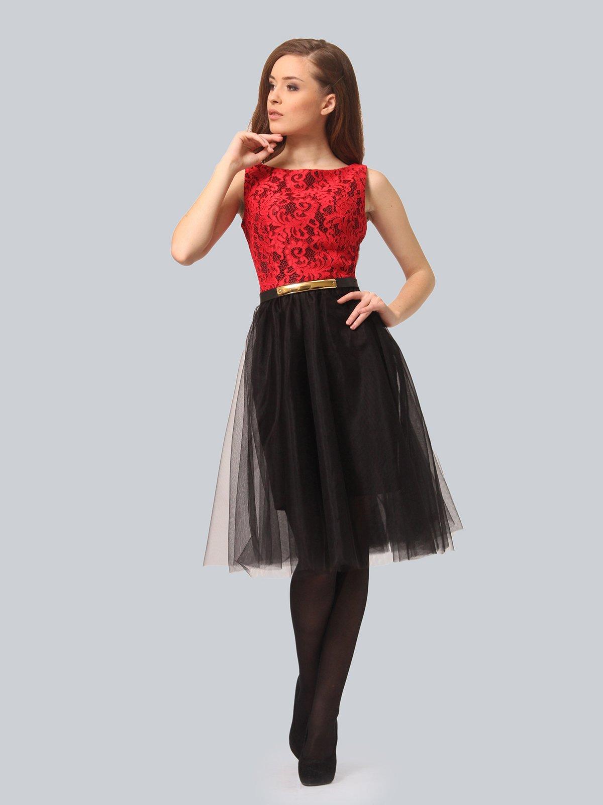 Платье черно-красное | 4090676