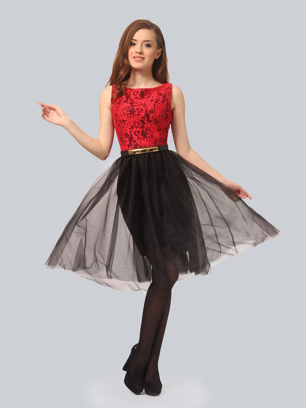 Платье черно-красное | 4090676 | фото 2