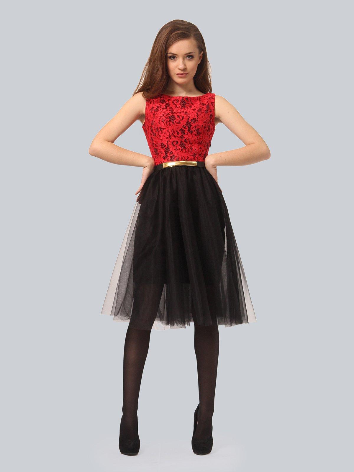 Платье черно-красное | 4090676 | фото 3