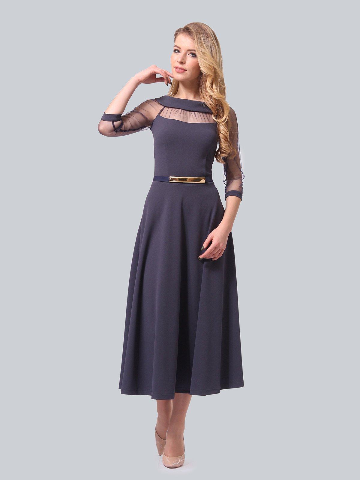Платье графитового цвета   4090689
