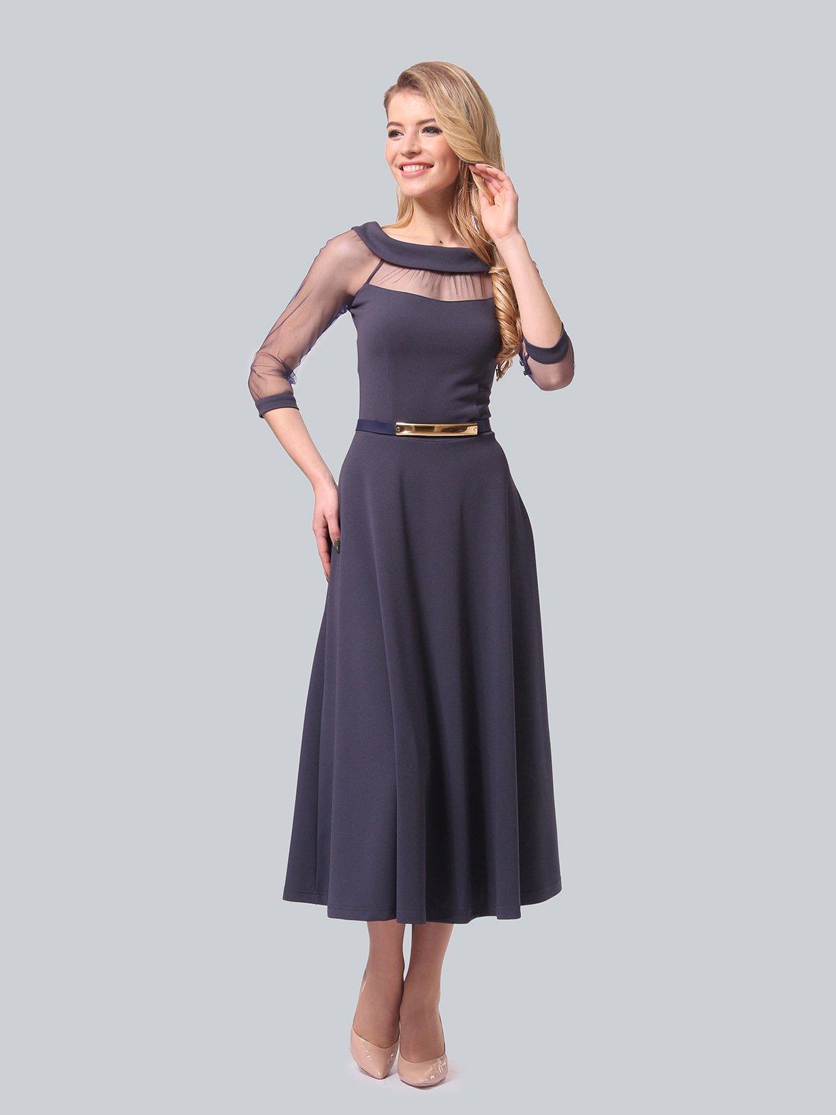 Платье графитового цвета   4090689   фото 2