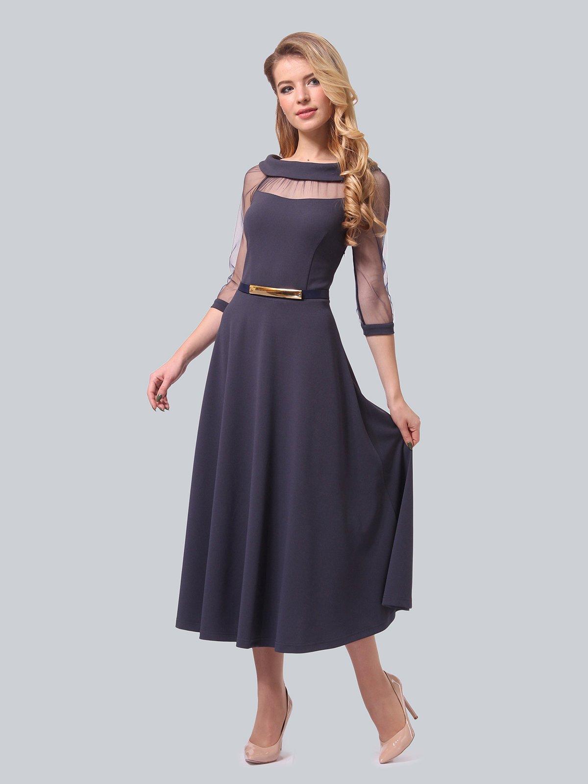 Платье графитового цвета   4090689   фото 3