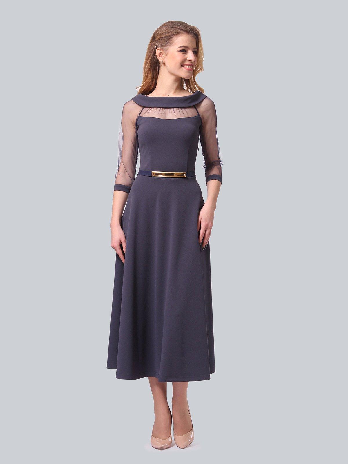 Платье графитового цвета   4090689   фото 4