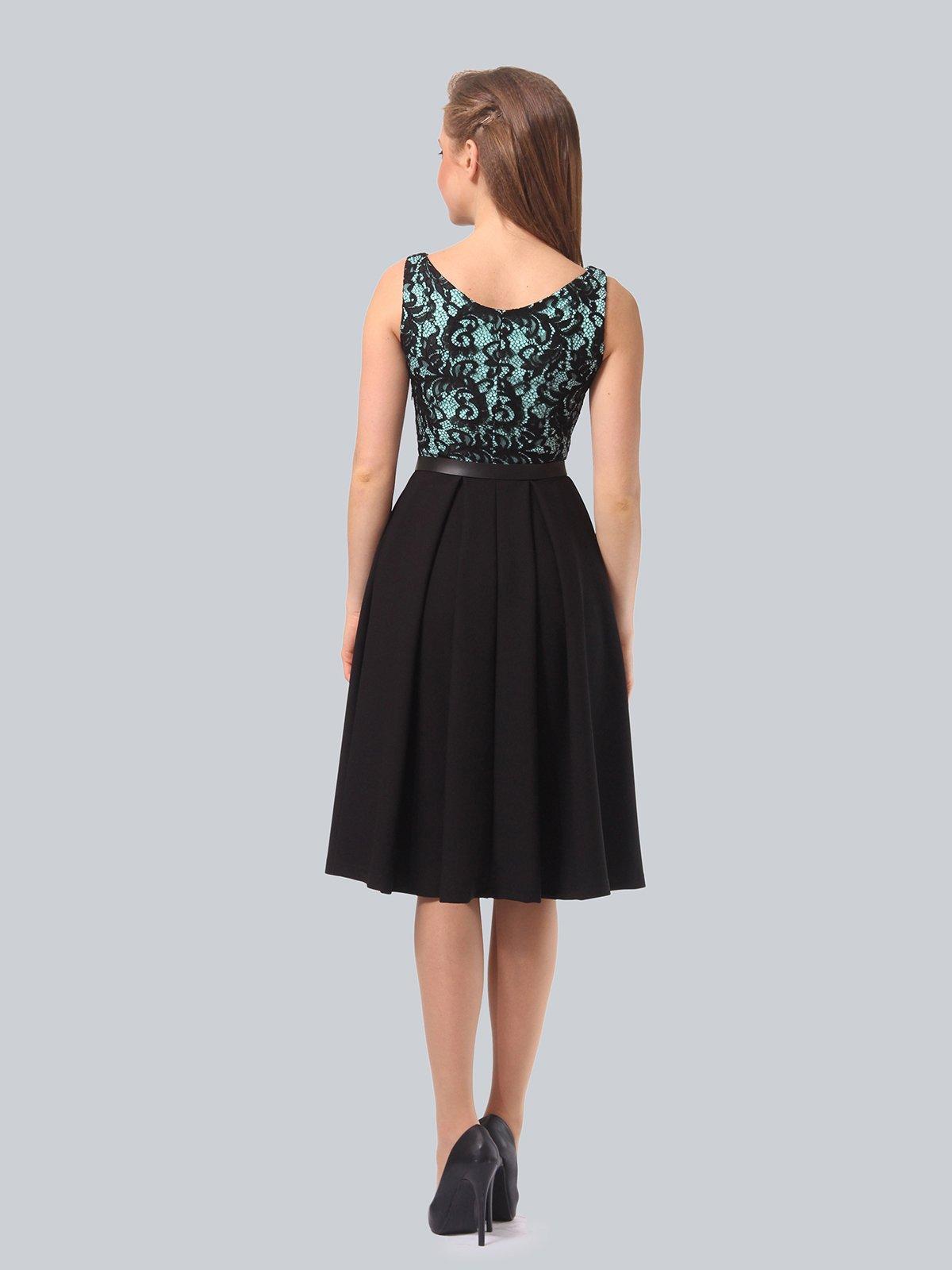 Платье черно-мятного цвета | 4090963 | фото 5