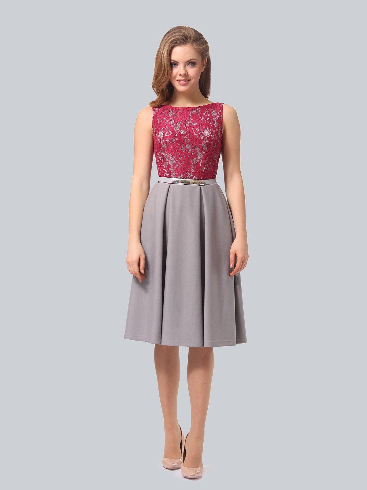 Платье серо-розовое | 4090965