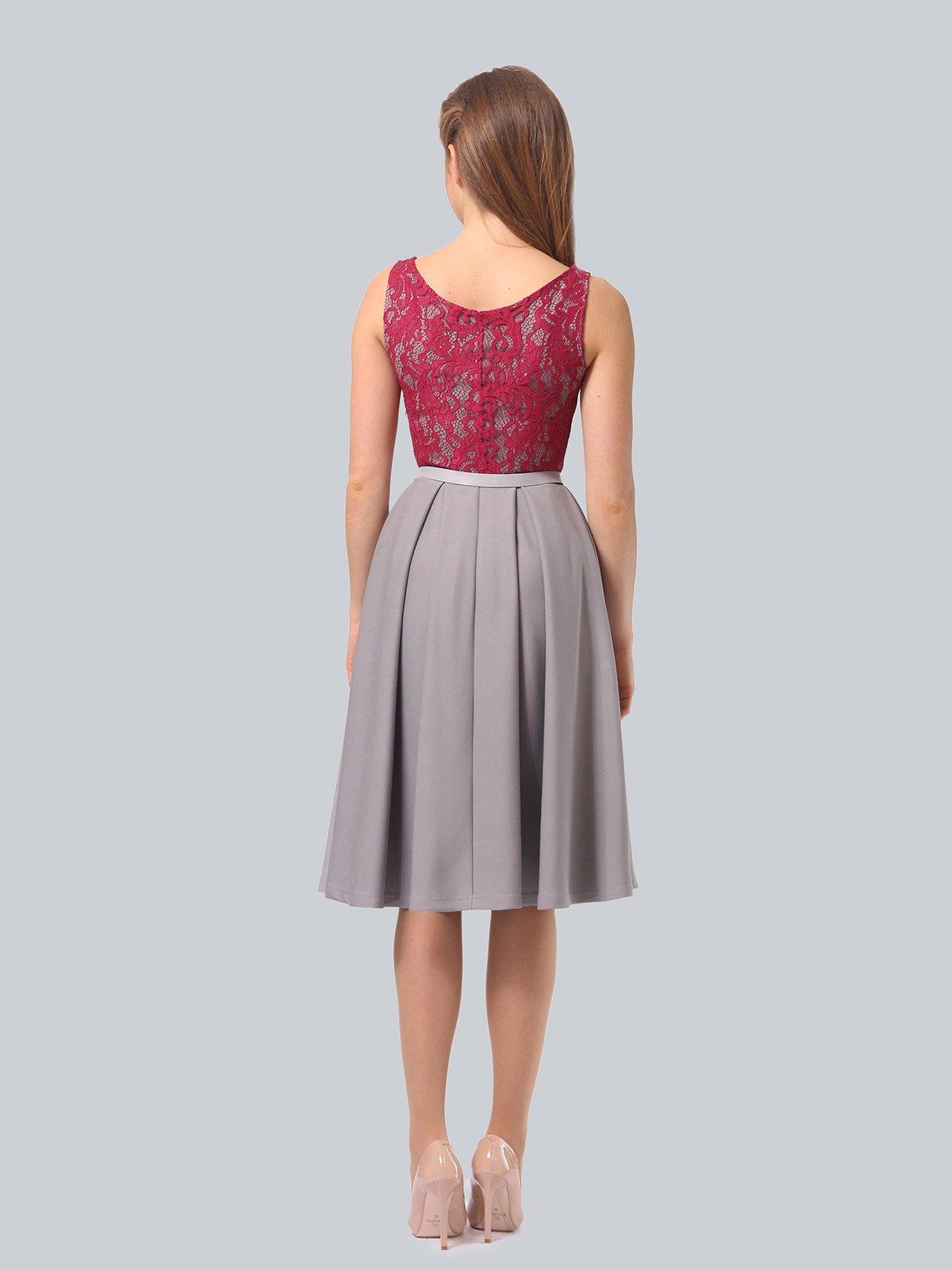 Платье серо-розовое | 4090965 | фото 5