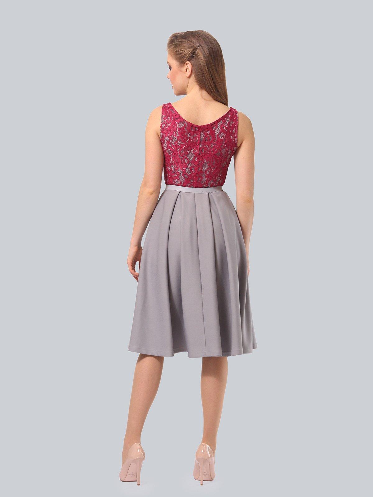 Платье серо-розовое | 4090965 | фото 6