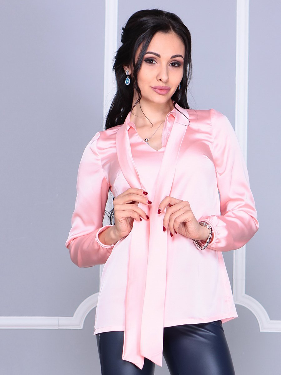 Блуза персикового цвета | 4092884 | фото 3