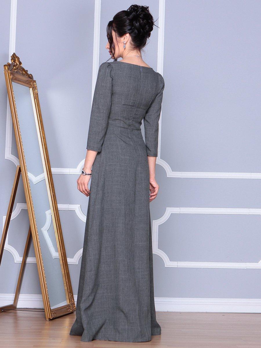 Платье графитовое | 4092885 | фото 2