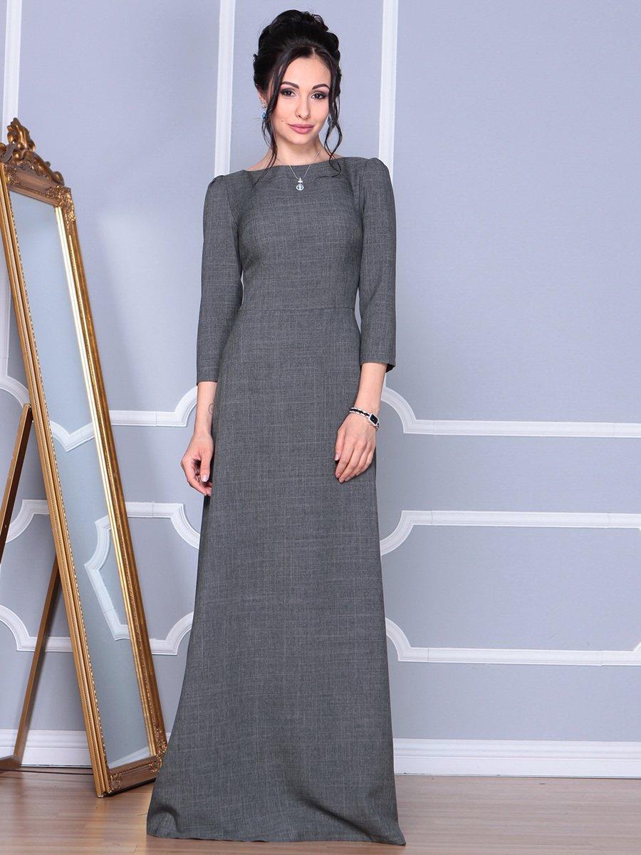 Платье графитовое | 4092885 | фото 3
