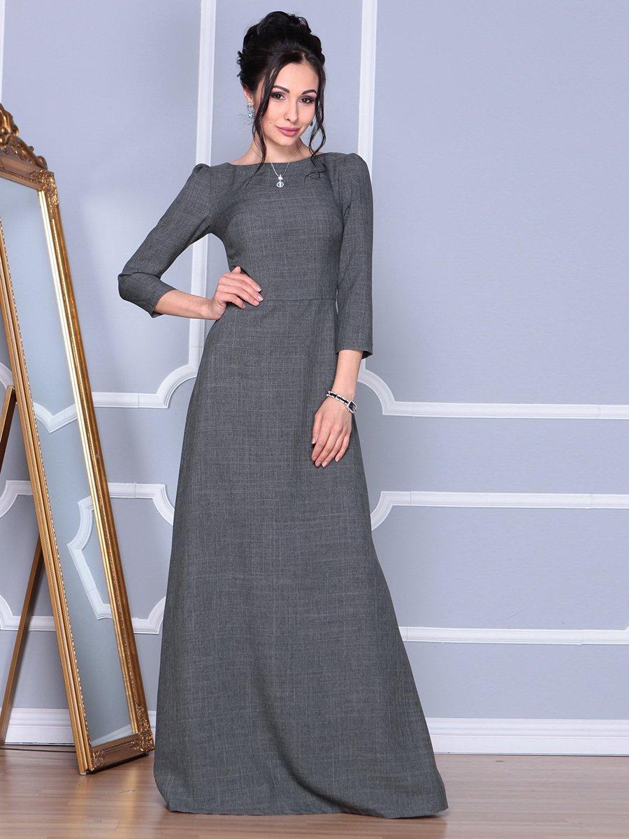 Платье графитовое | 4092885 | фото 4