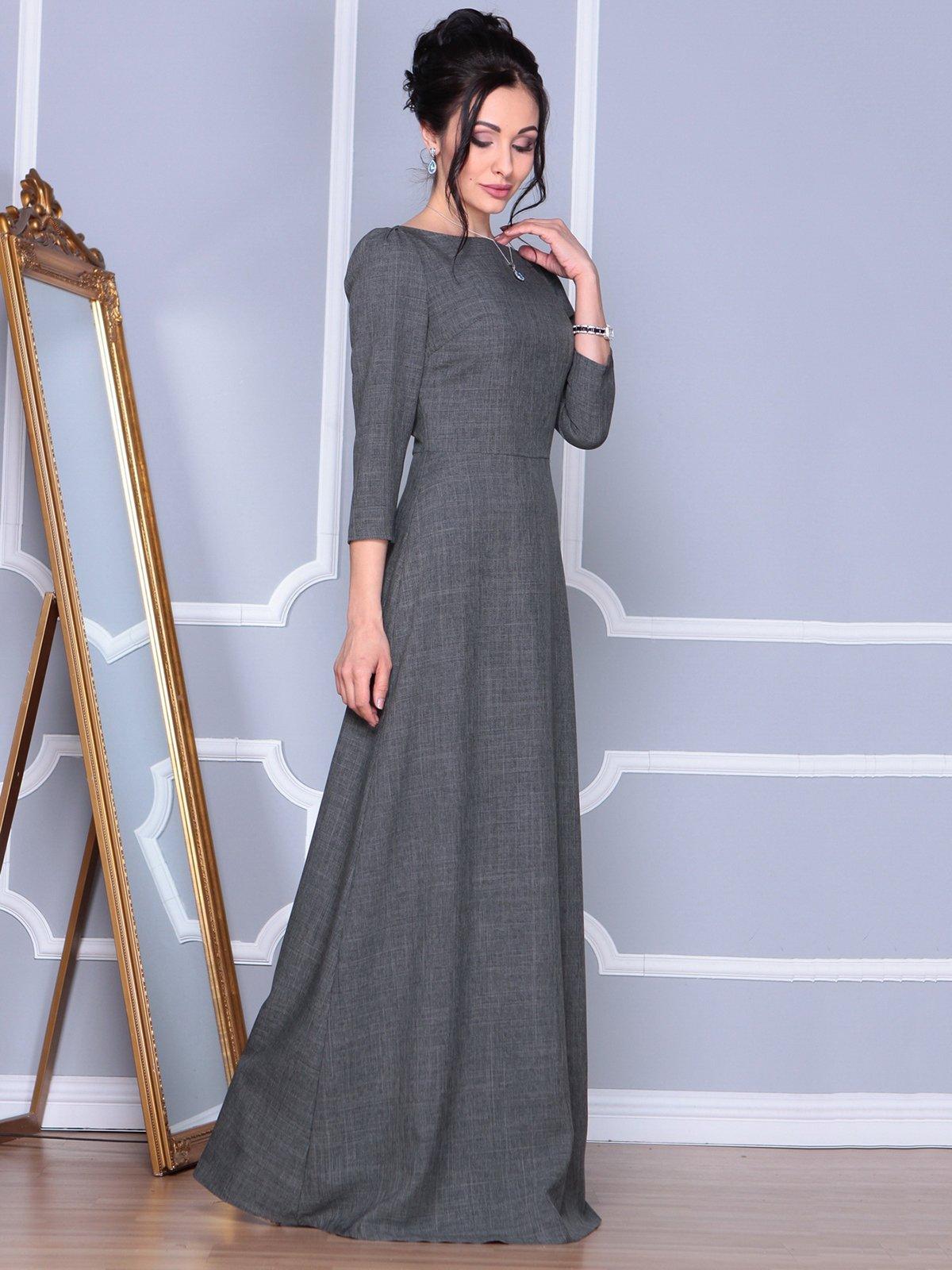 Платье графитовое | 4092885 | фото 5
