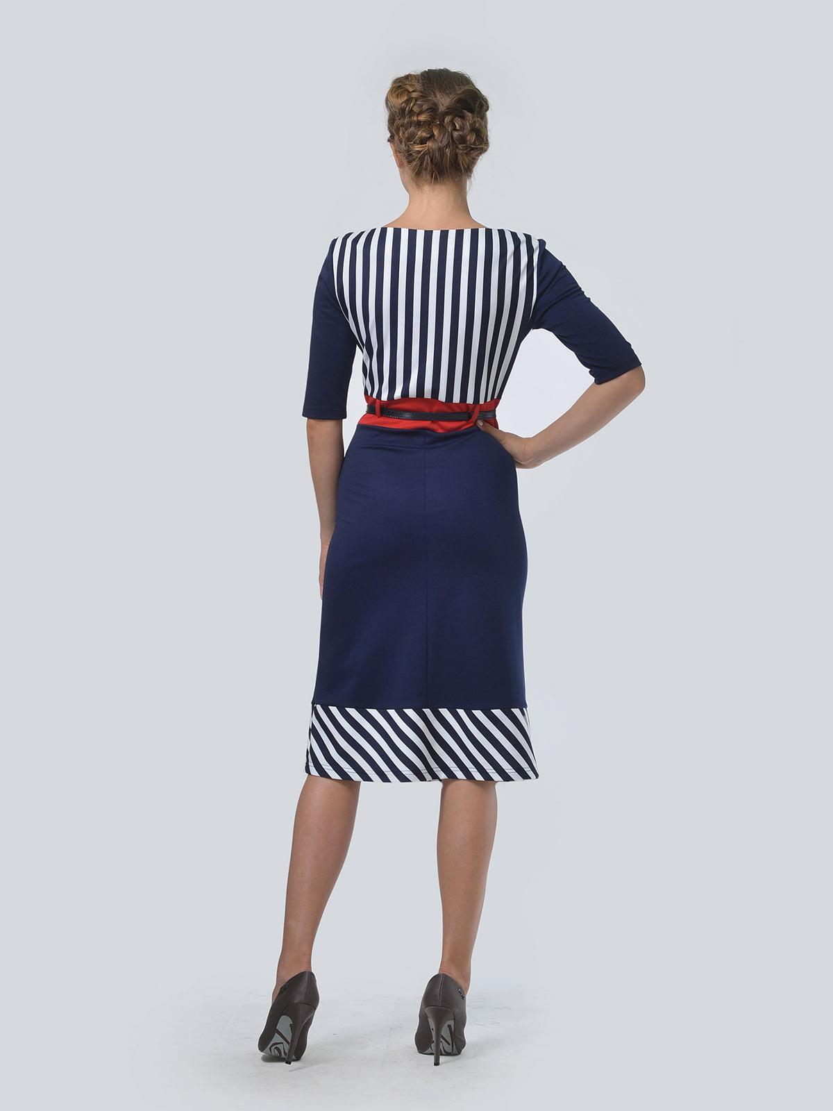 Платье темно-синее в полоску | 4103037 | фото 2