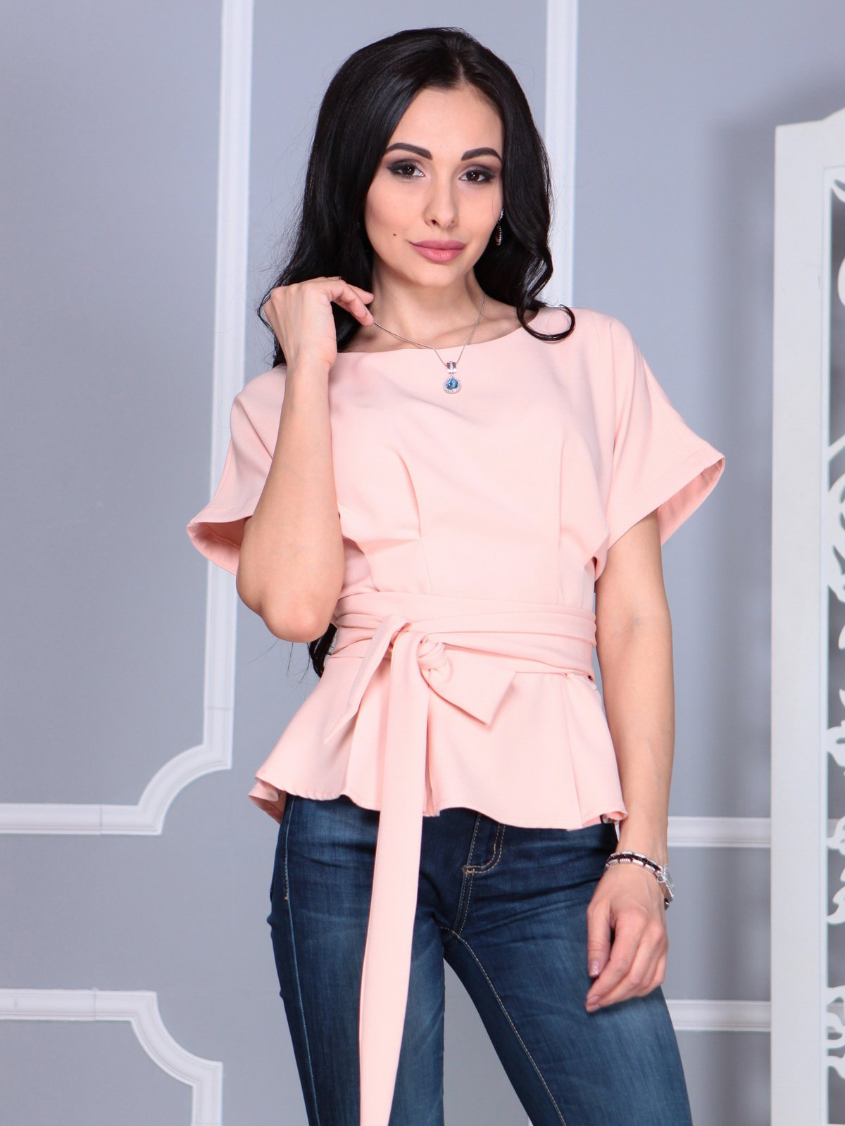 Блуза нежно-розовая | 4109512