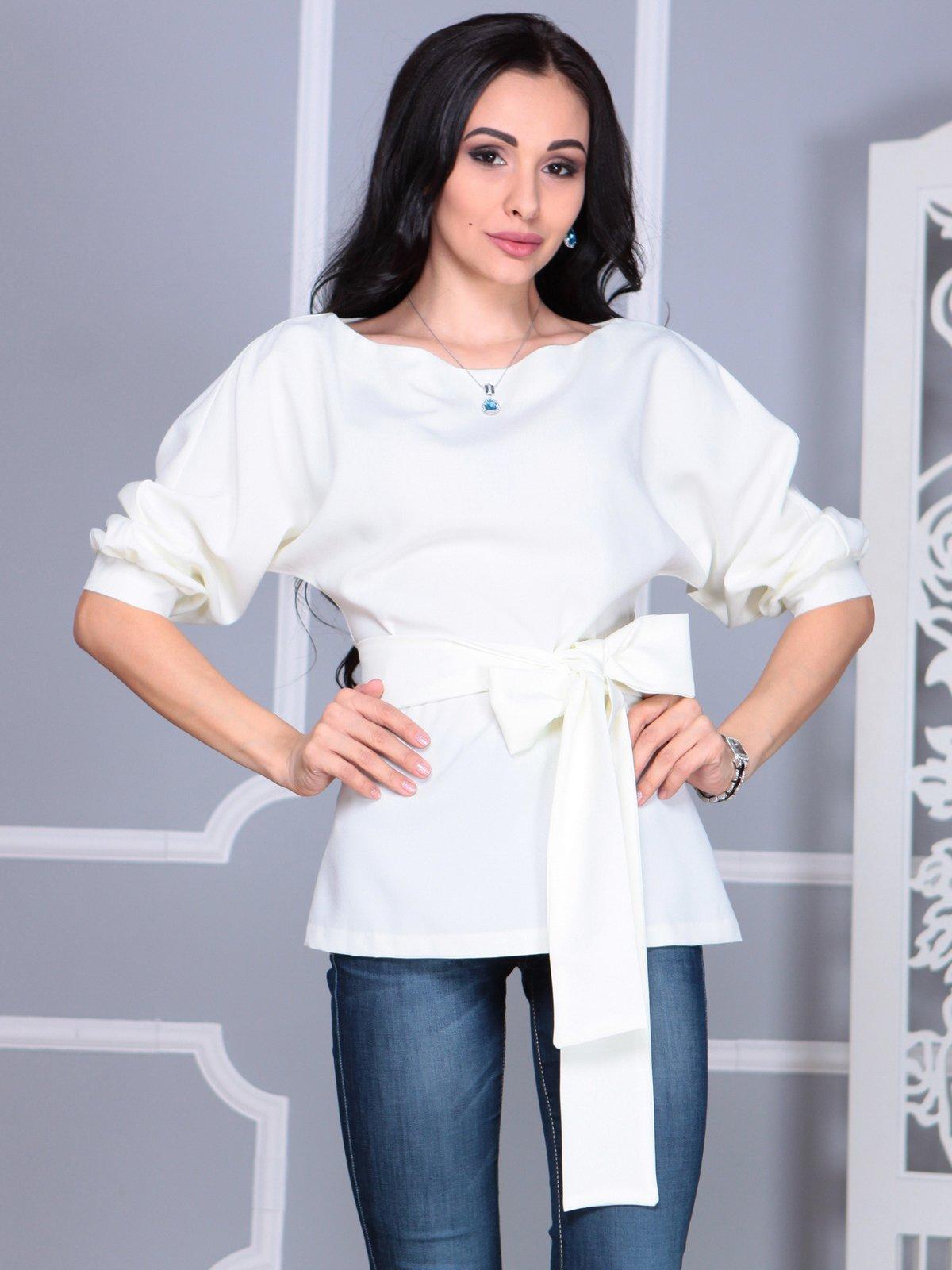 Блуза молочного цвета | 4109514 | фото 3