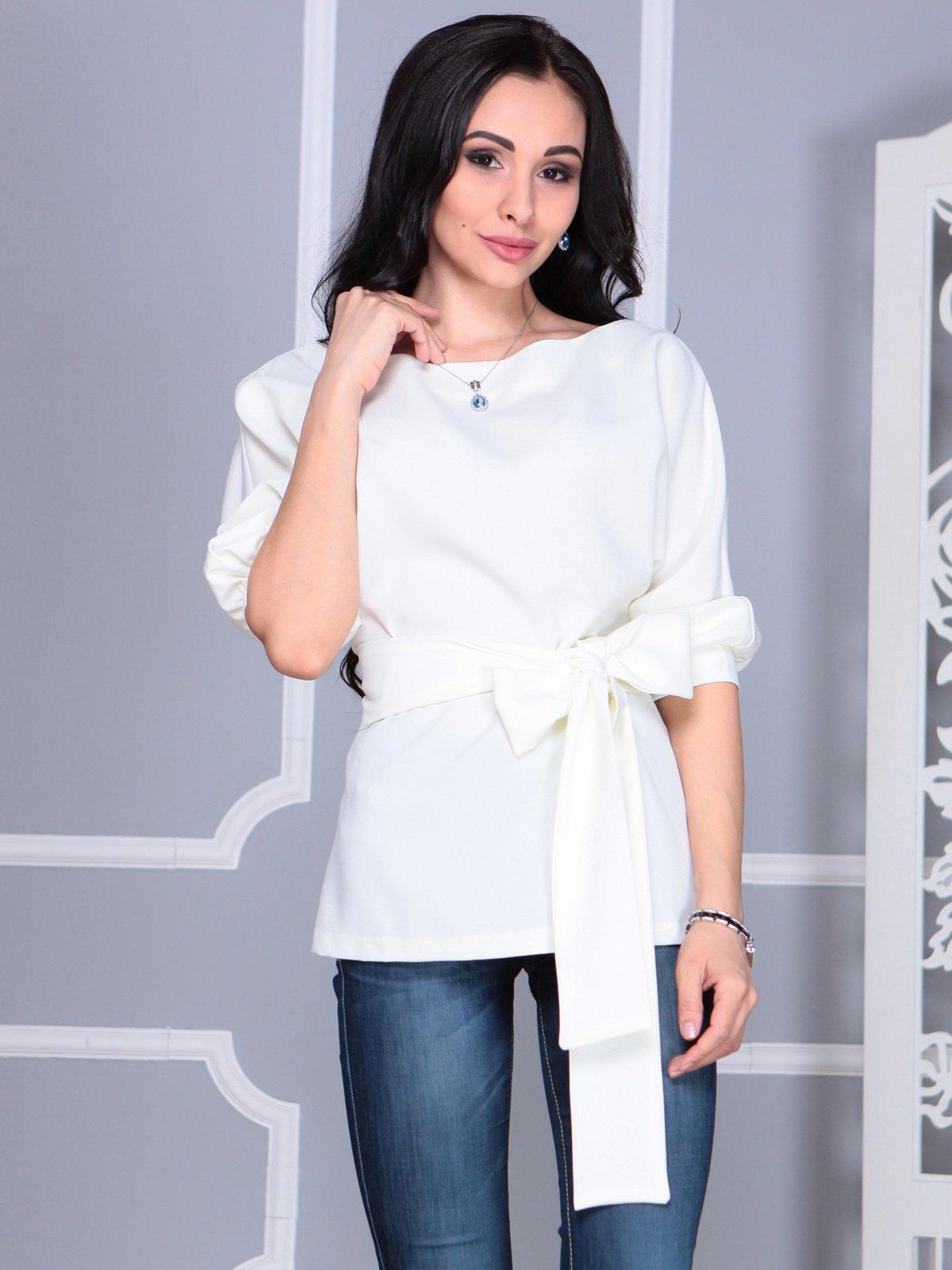 Блуза молочного цвета | 4109514 | фото 4