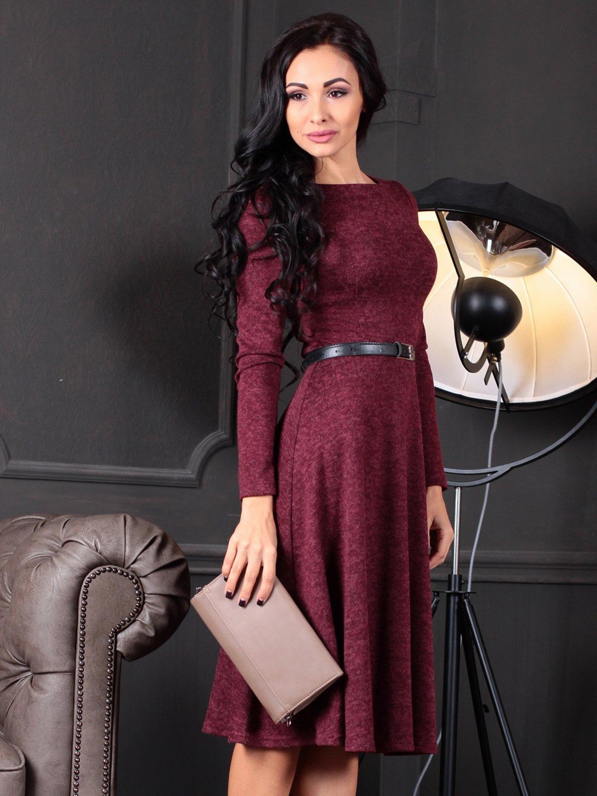 Платье бордовое | 4109551