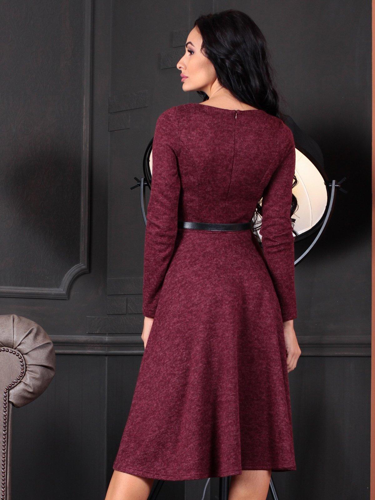 Платье бордовое | 4109551 | фото 2