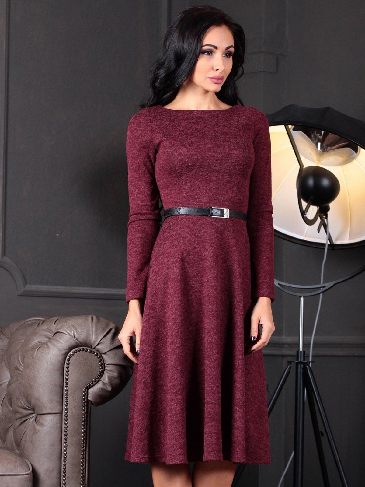 Платье бордовое | 4109551 | фото 3