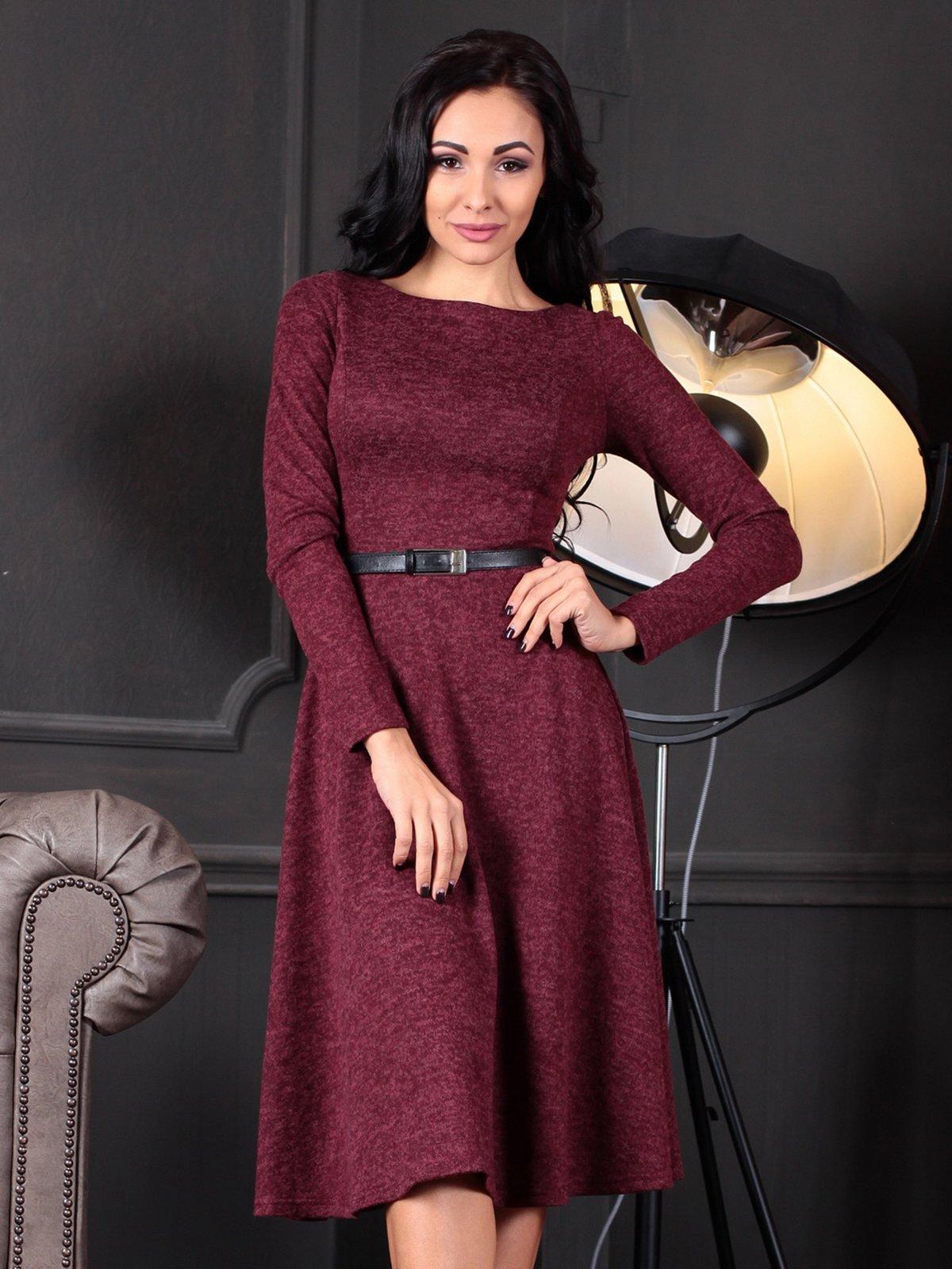 Платье бордовое | 4109551 | фото 4