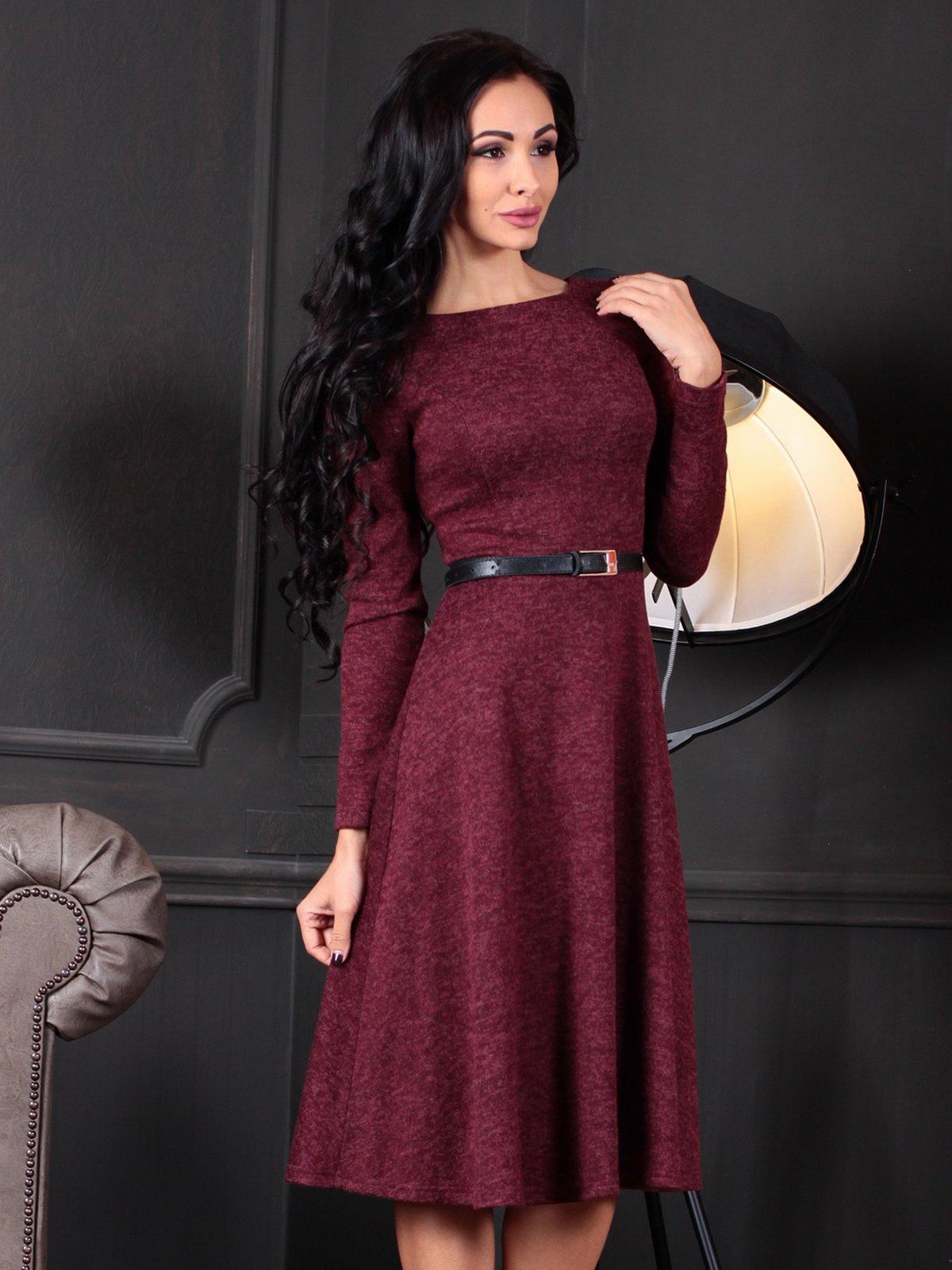 Платье бордовое | 4109551 | фото 5