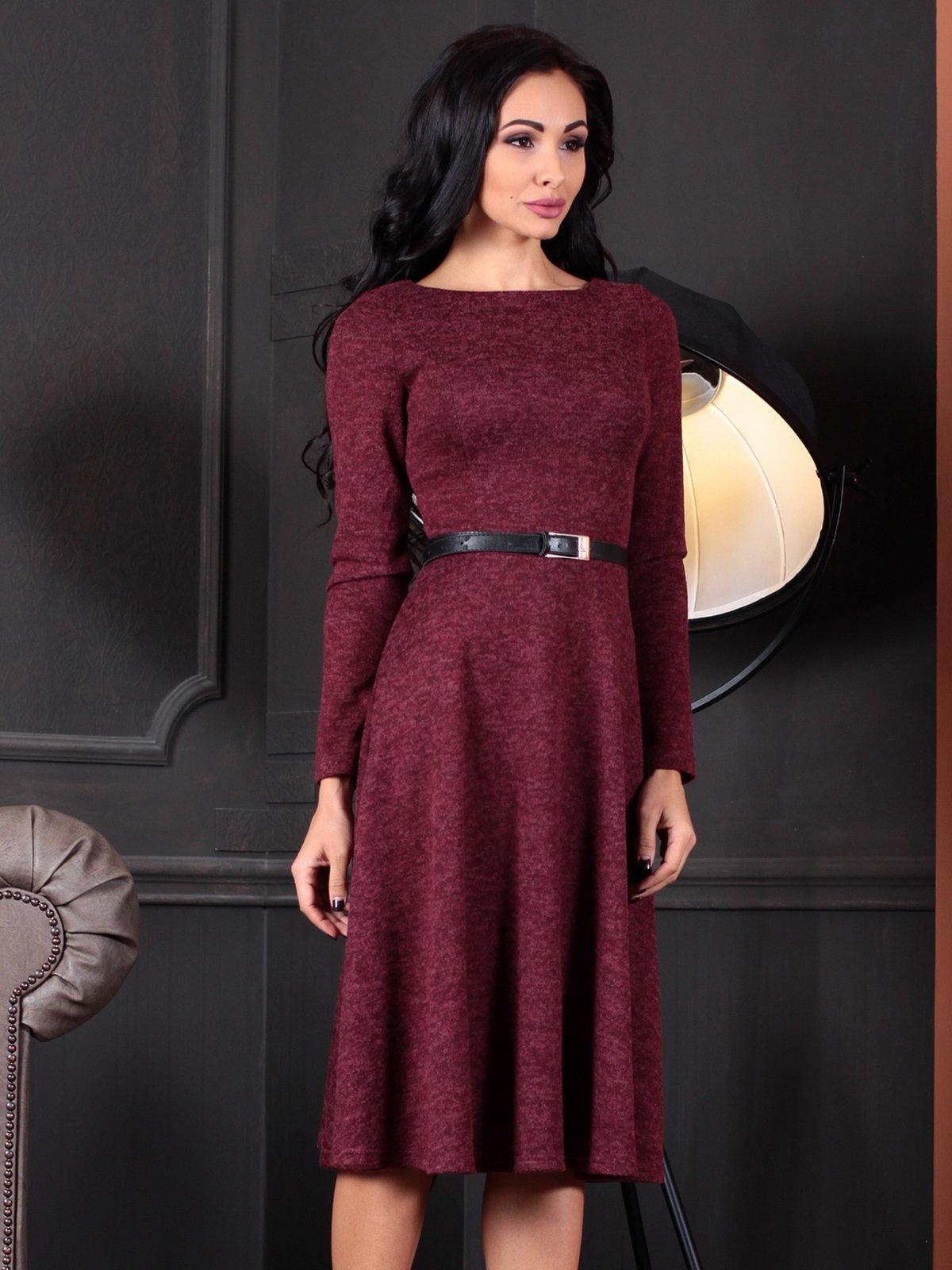 Платье бордовое | 4109551 | фото 6