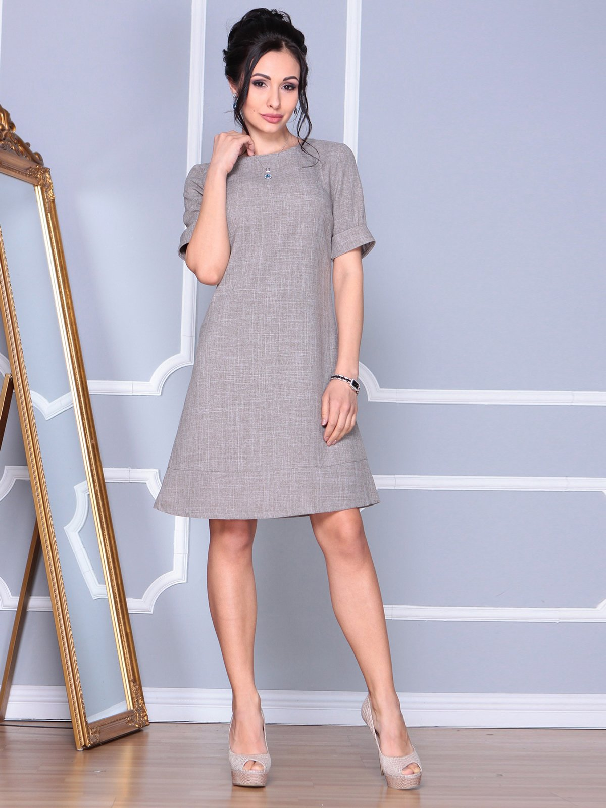 Сукня кольору мокко | 4109572