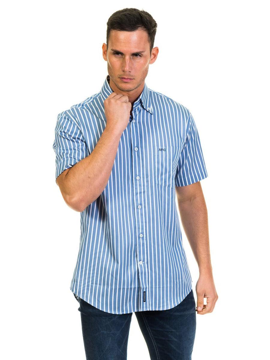 Рубашка синяя в полоску | 4105573