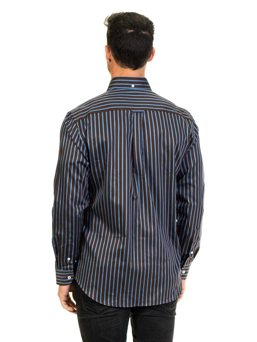 Сорочка чорна в смужку | 4105792