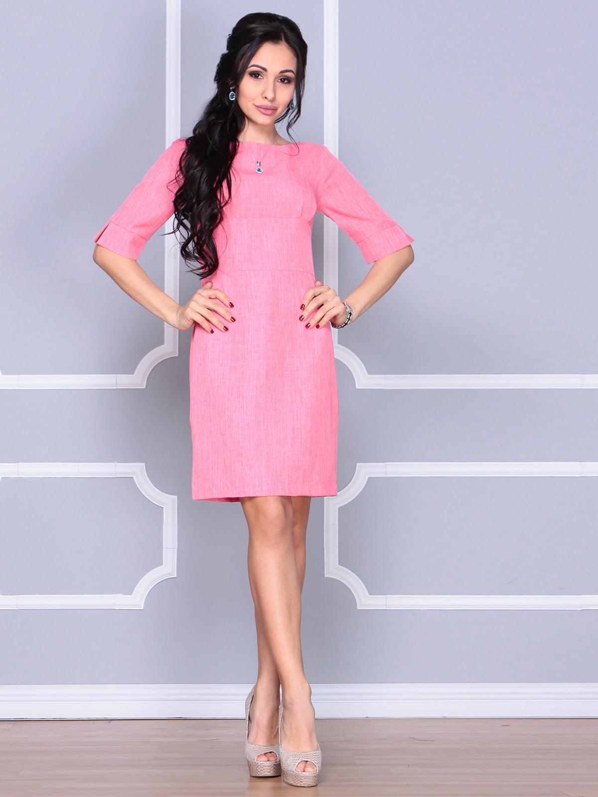 Платье коралловое | 4112907 | фото 3