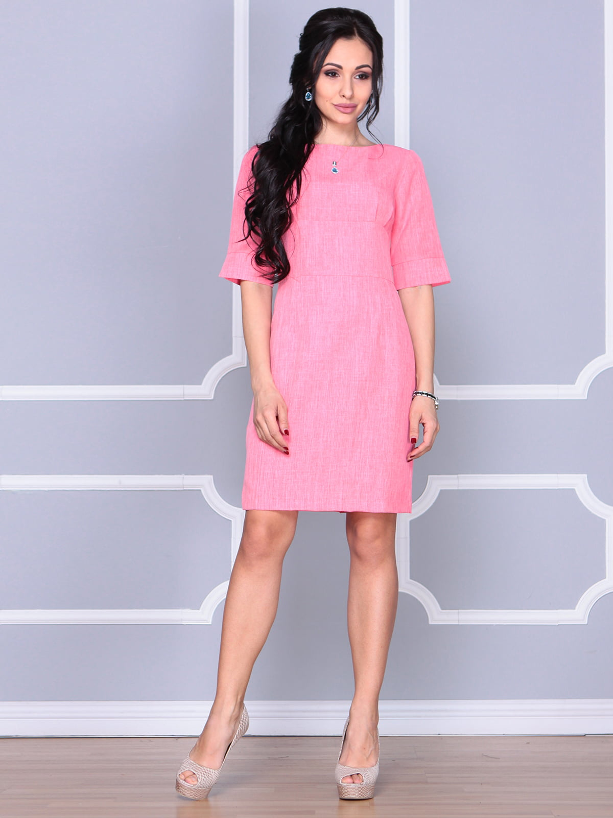 Платье коралловое | 4112907 | фото 4