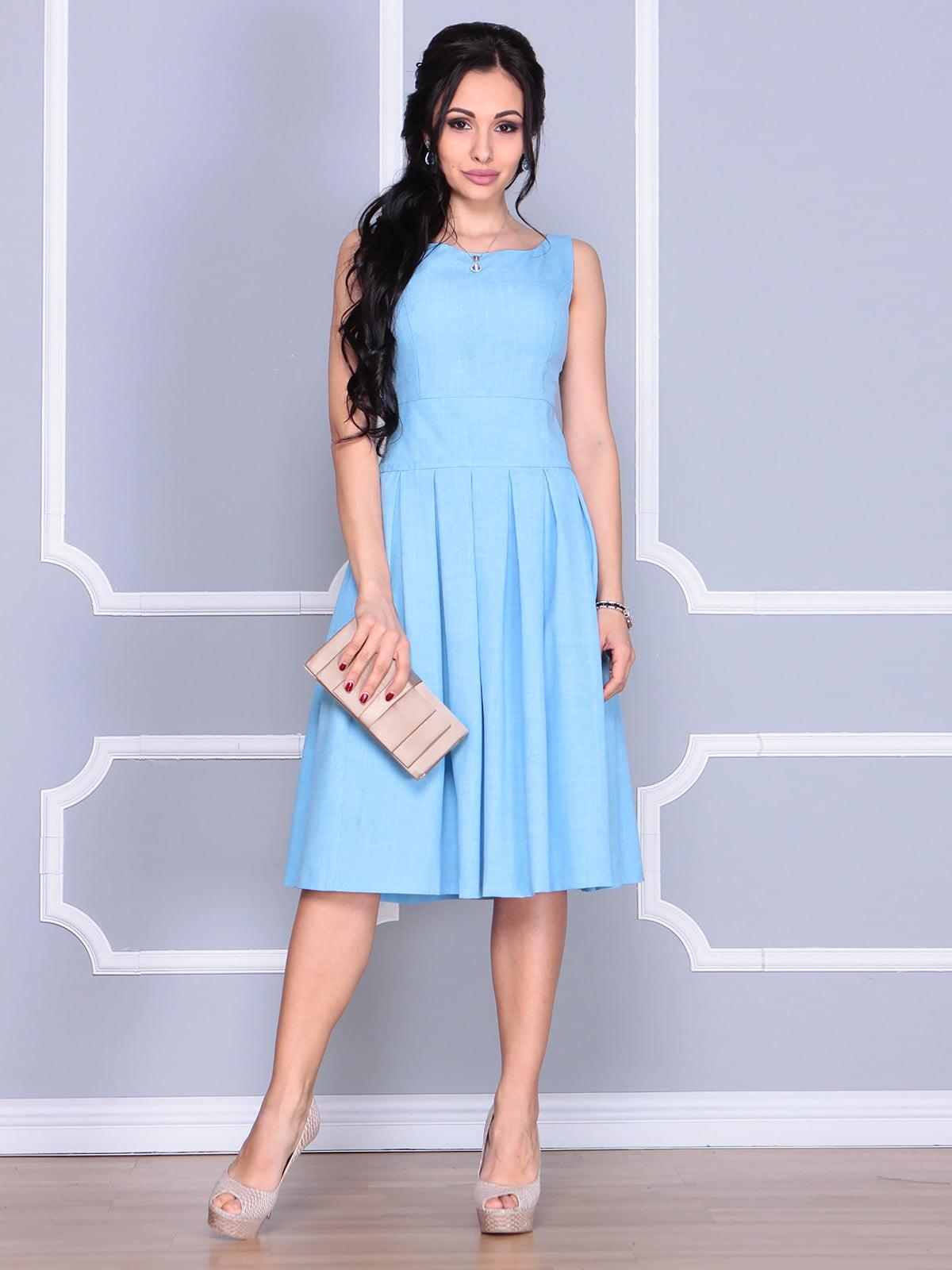Платье голубое | 4112908
