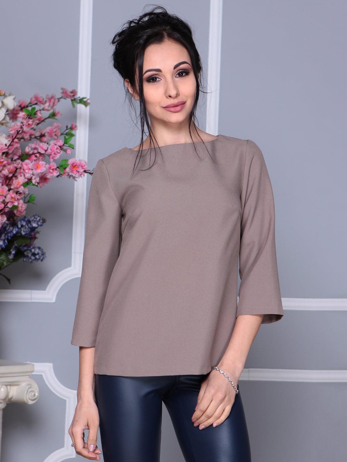 Блуза кольору мокко | 4119041