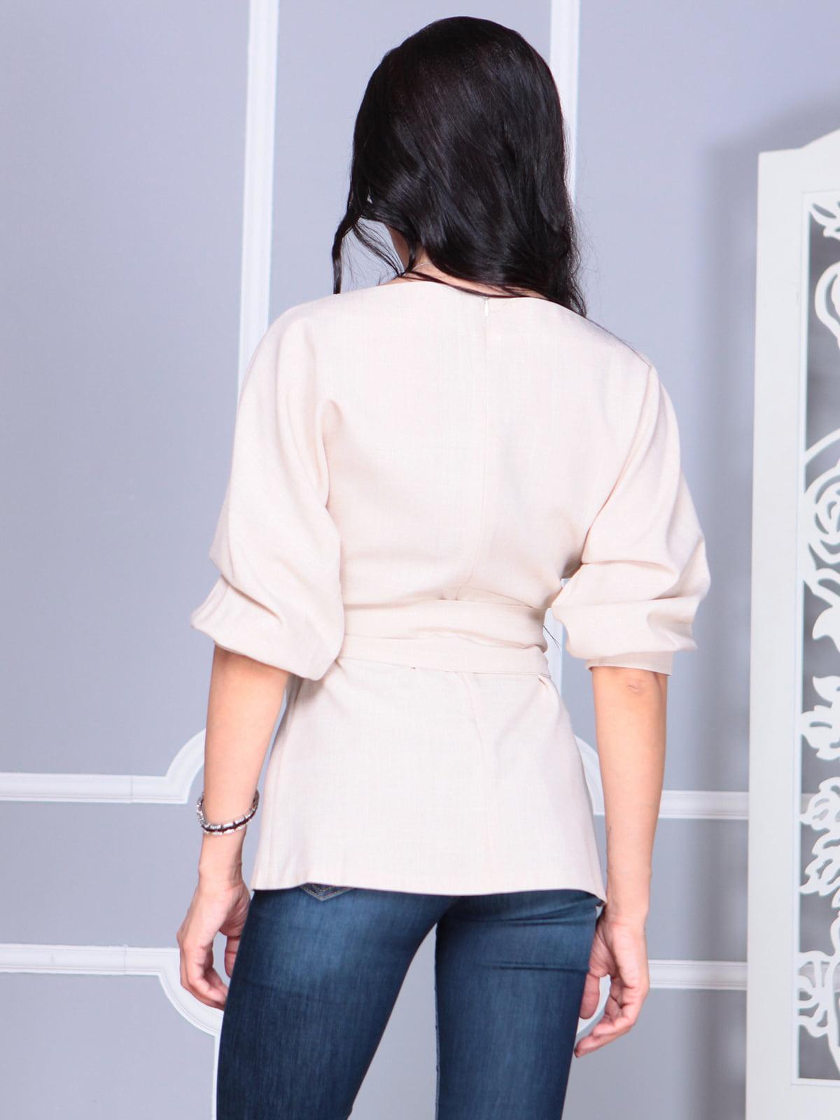 Блуза бежевая | 4119042 | фото 2