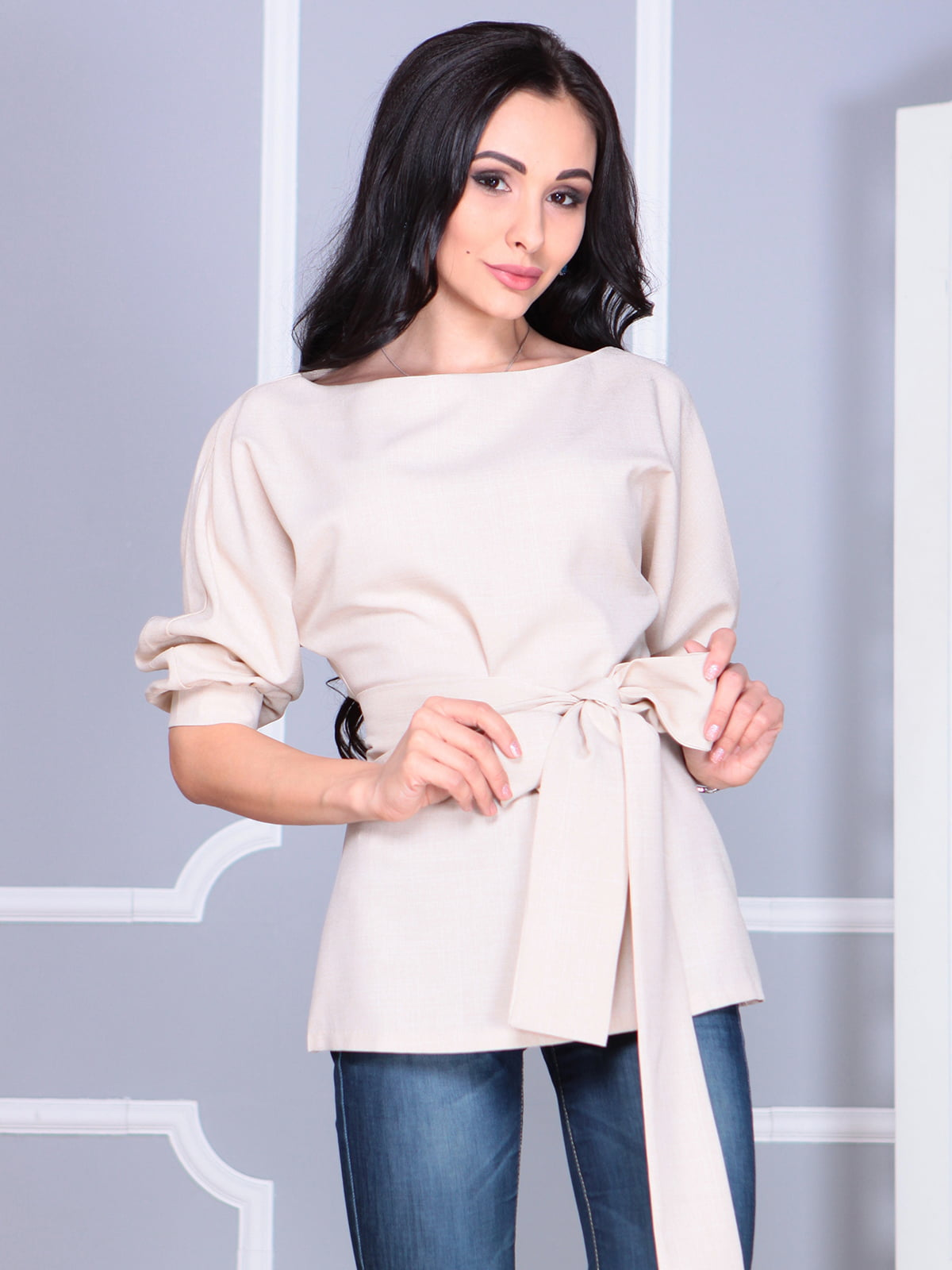 Блуза бежевая | 4119042 | фото 4