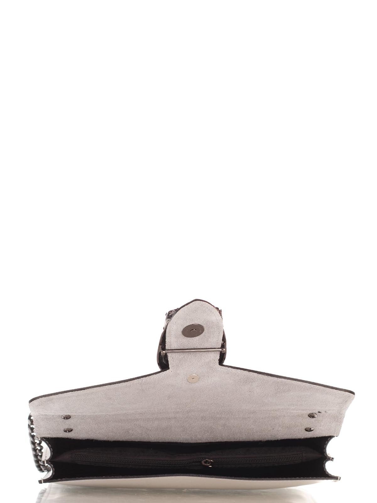 Сумка-портфель светло-сера | 4022766 | фото 5