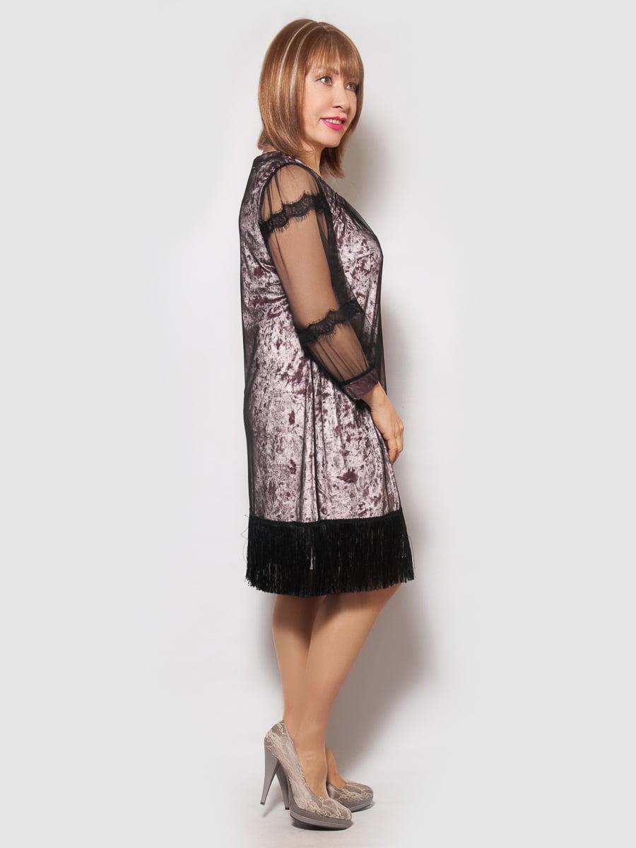 Платье цвета пудры | 4132148 | фото 2