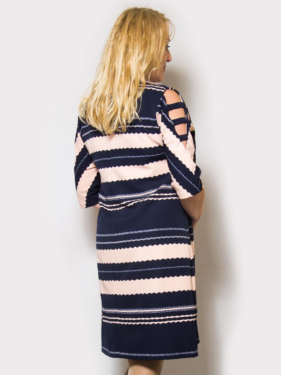 Платье сине-розовое | 4132166 | фото 2