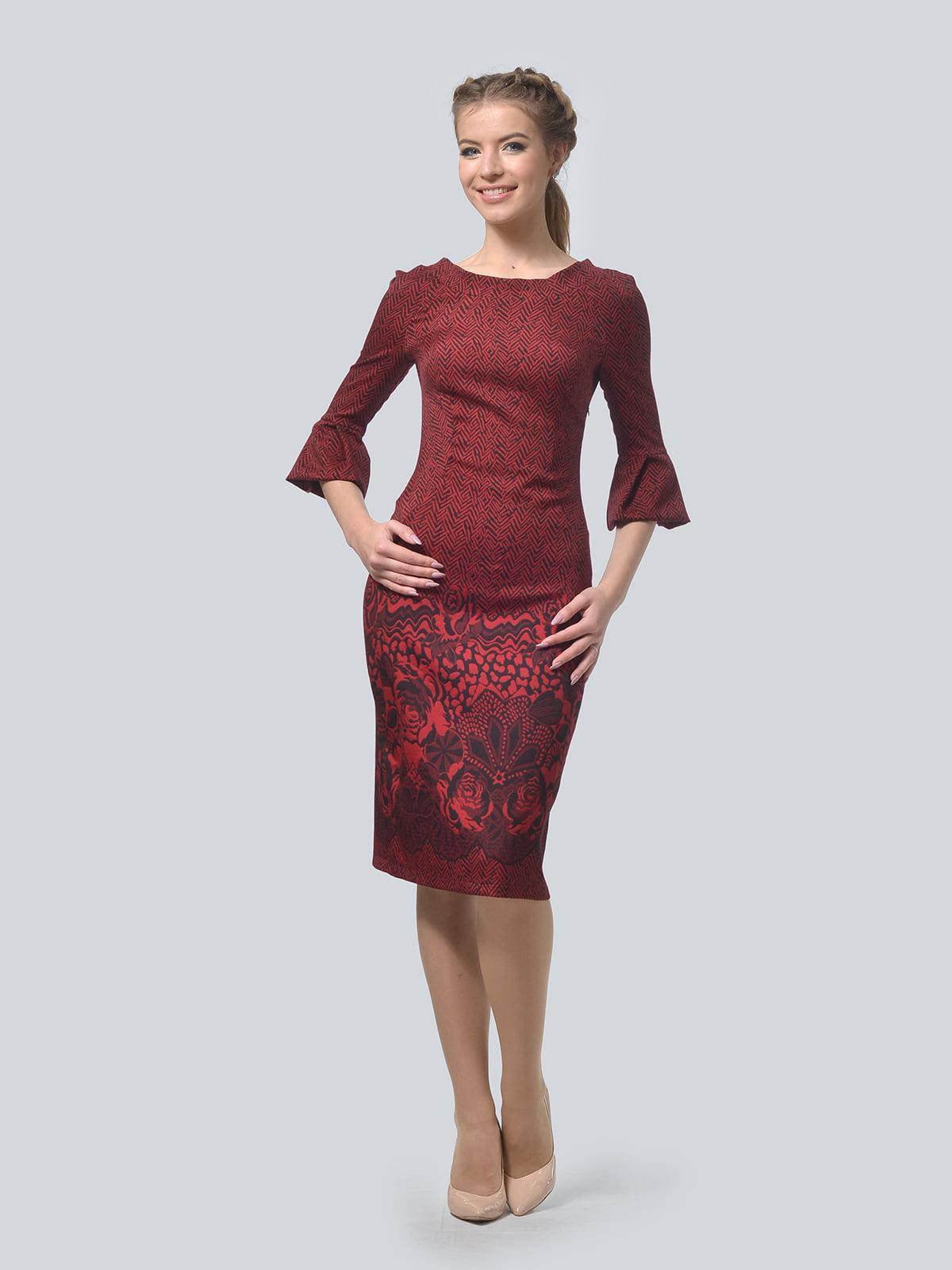 Сукня бордова | 4133200
