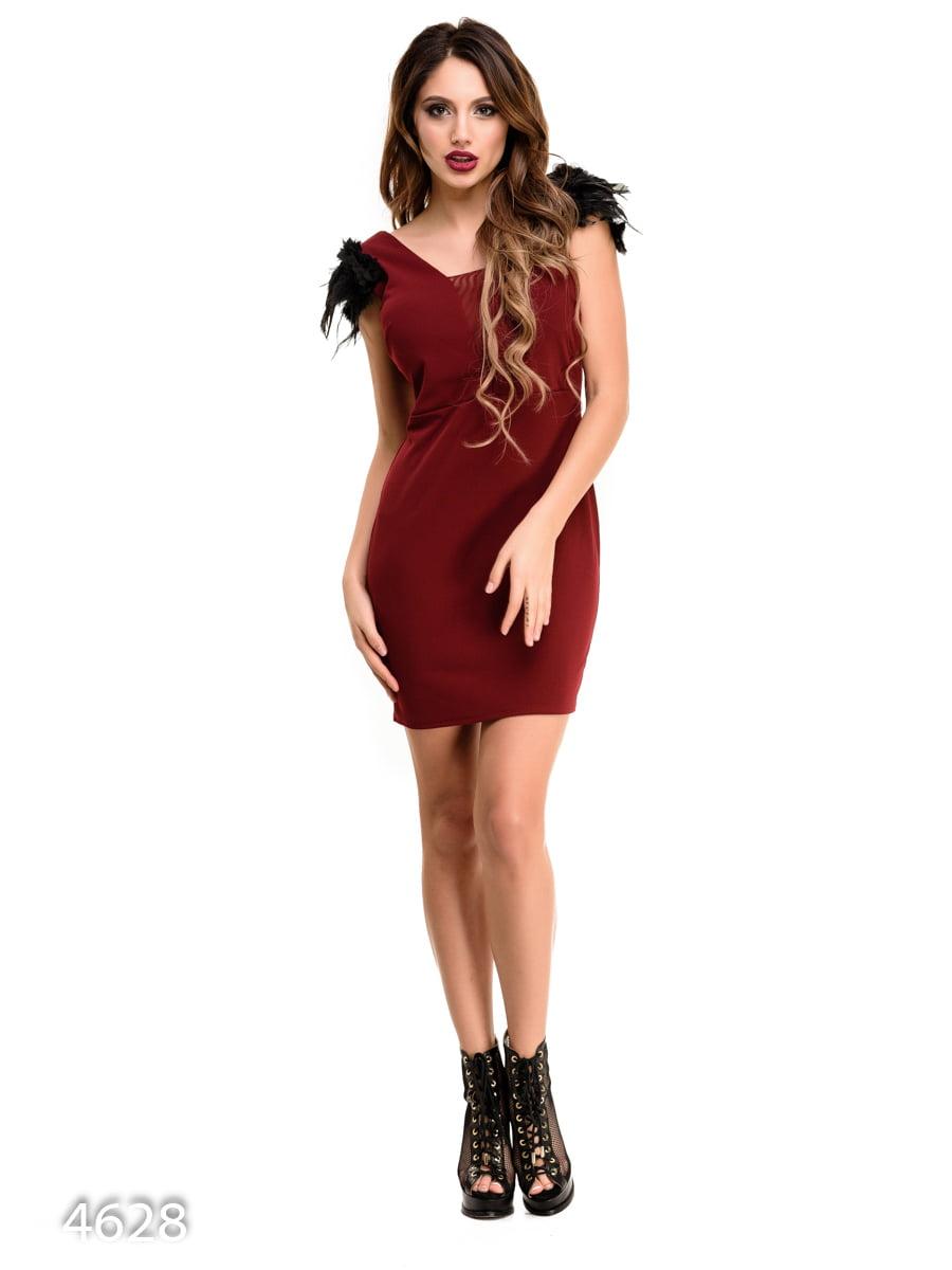 Платье бордовое | 3977290