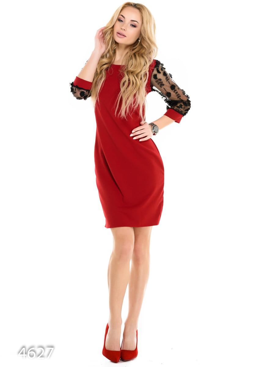 Платье бордовое   3977300