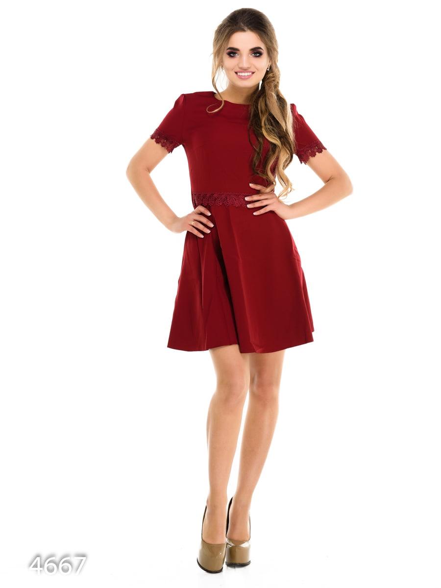 Платье бордовое | 3977384