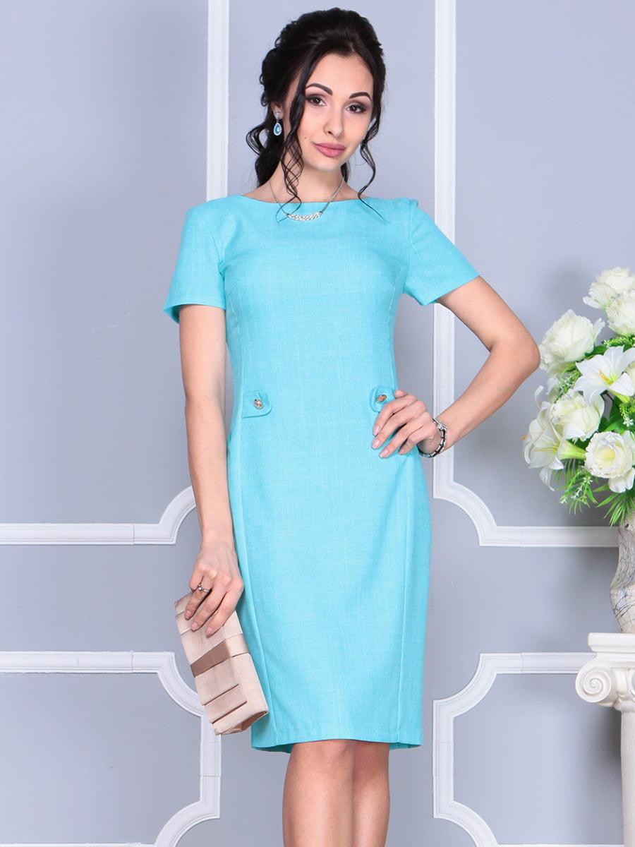 Платье светло-бирюзовое | 4137091 | фото 2